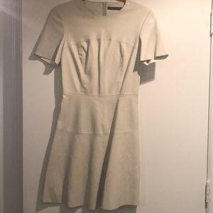 Zara off white faux leather dress